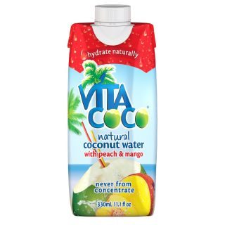 Vita Coco Coconut Water with Peach & Mango 12 x 330ml